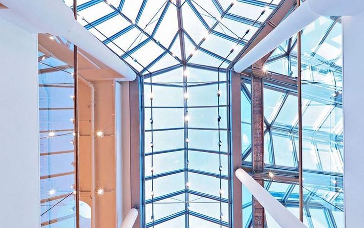 Copertura in vetro per interni