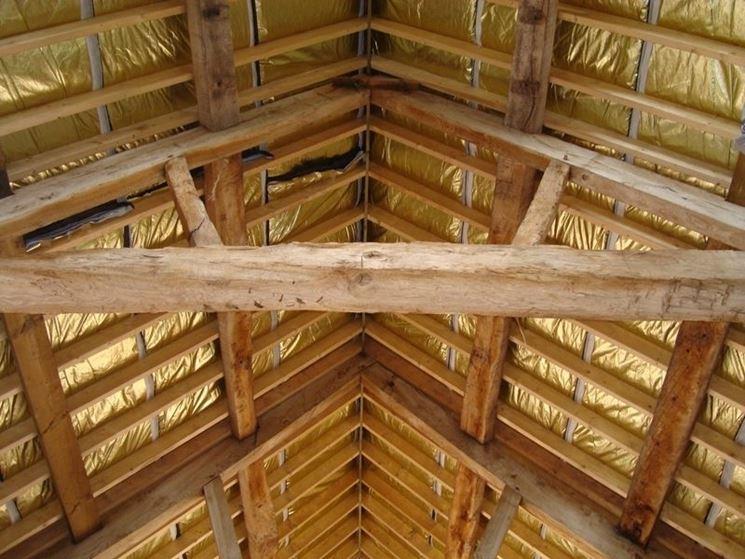 Isolamento termico tetto tetti e solai tipi di - Isolamento tetto interno ...