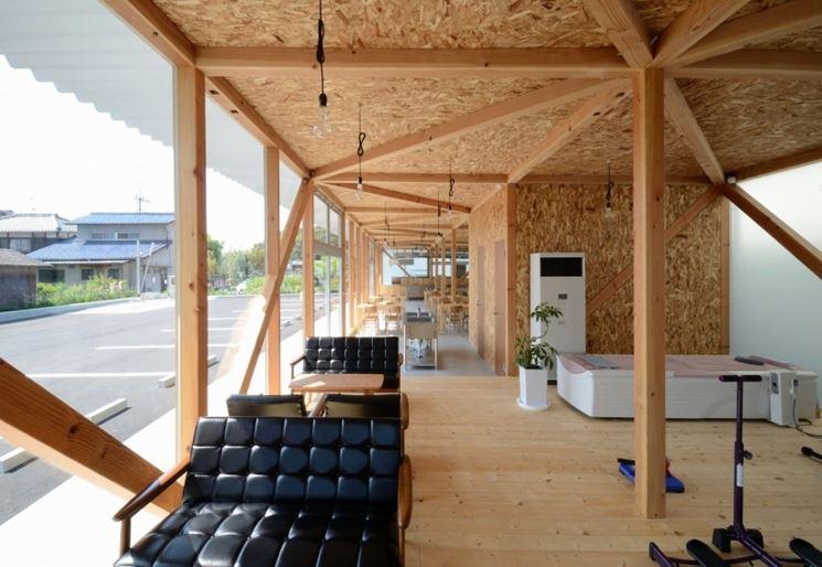 esempio di una struttura realizzata in legno
