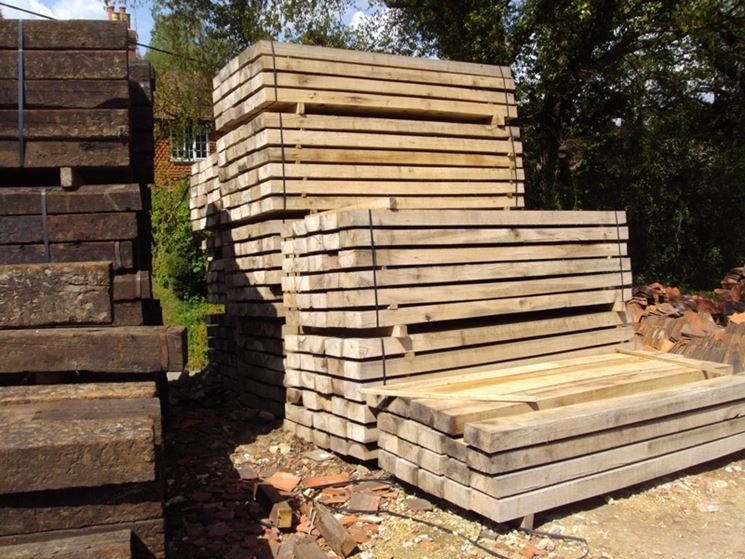 esempio di trave in legno massiccio