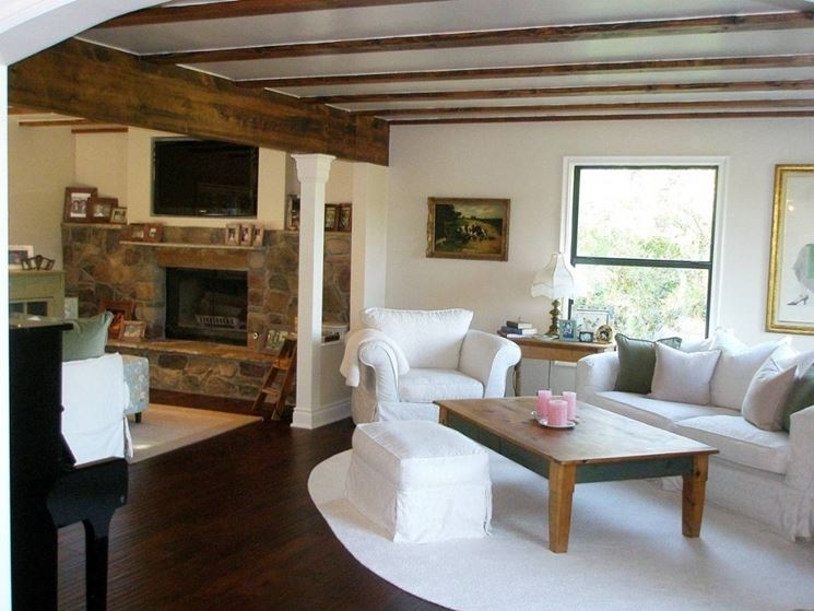 Travi in legno per interni