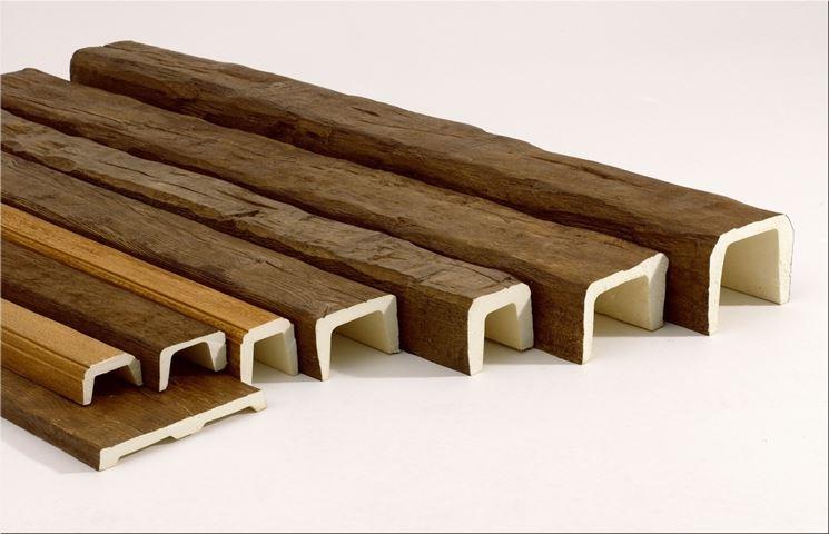 Travi in polistirolo effetto legno