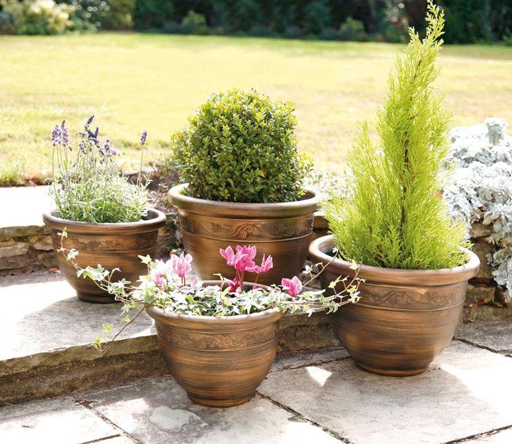 Vasi da esterno in resina vasi per piante for Piante da vaso per esterno
