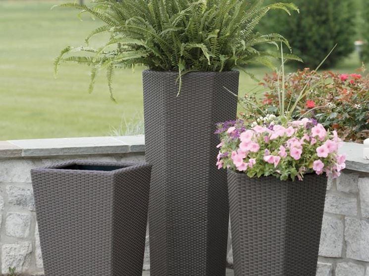 vasi in pvc per esterno vasi da esterno in resina vasi per piante