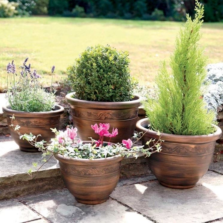 Vasi giardino resina vasi per piante utilizzare i vasi da giardino in resina - Vasi terracotta da giardino ...